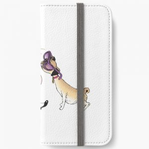 Eloise and Weenie in Sunglasses iPhone Wallet