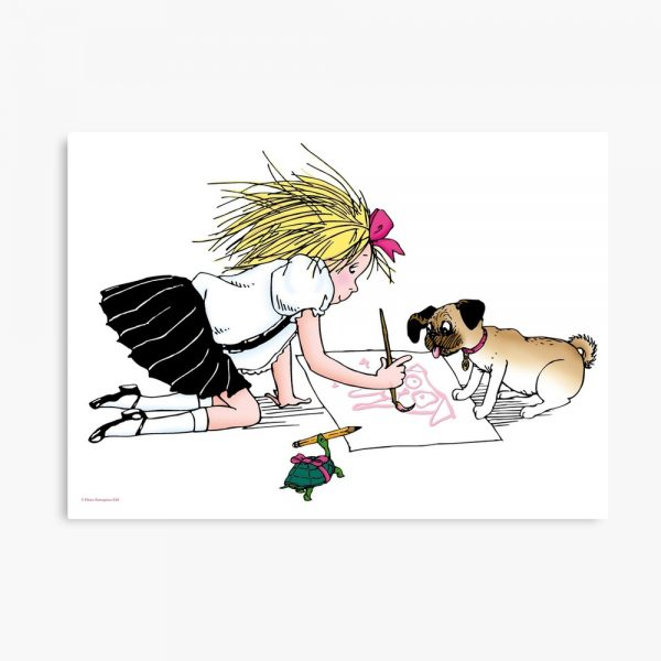 Eloise and the gang painting Canvas Print