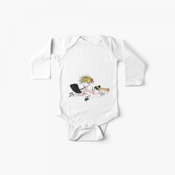 Eloise and the gang painting long sleeve Baby One-Piece