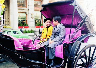 Eloise at The Plaza in a carriage