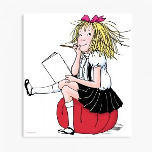 Eloise thinking about what to write Canvas Print