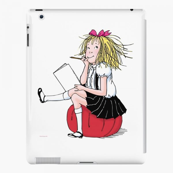 Eloise thinking about what to write iPad Case Skin